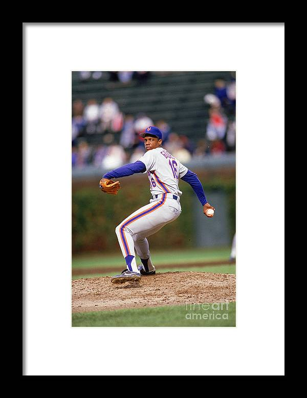 Dwight Gooden Framed Print featuring the photograph Dwight Gooden by Ron Vesely