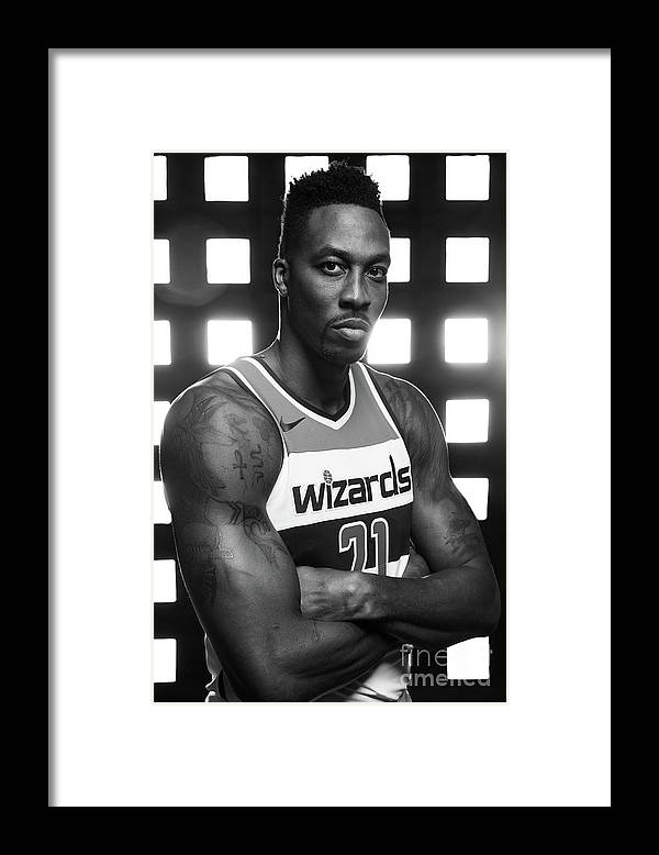 Media Day Framed Print featuring the photograph Dwight Howard by Stephen Gosling