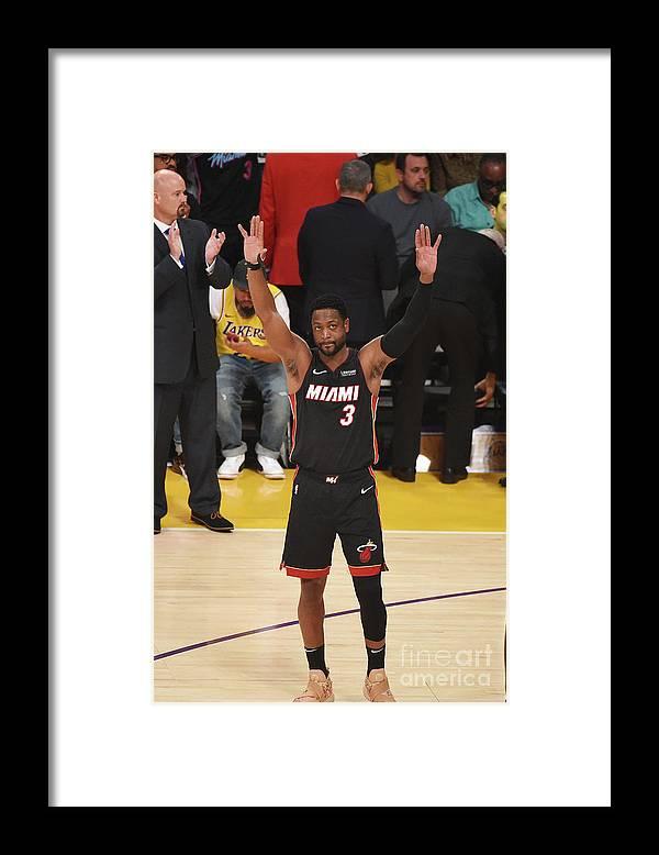 Nba Pro Basketball Framed Print featuring the photograph Dwyane Wade by Adam Pantozzi