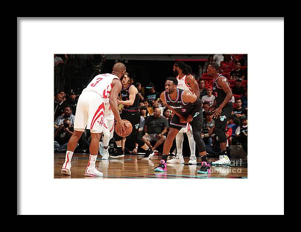 Nba Pro Basketball Framed Print featuring the photograph Dwyane Wade and Chris Paul by Issac Baldizon