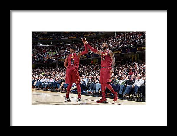 Nba Pro Basketball Framed Print featuring the photograph Dwyane Wade and Lebron James by David Liam Kyle