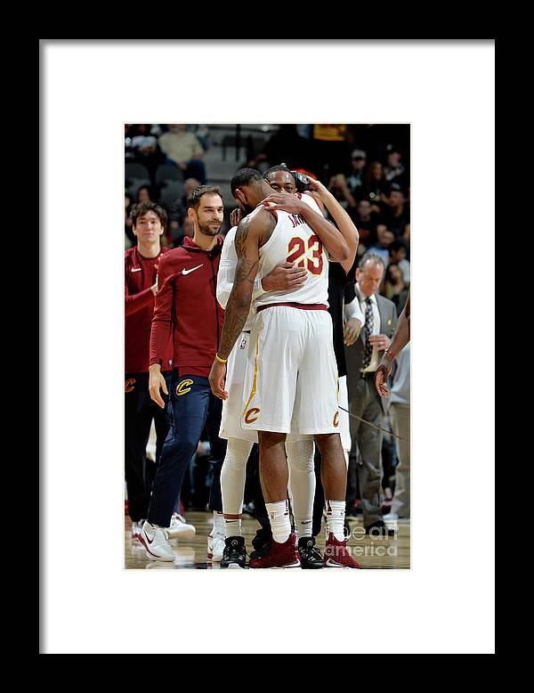 Nba Pro Basketball Framed Print featuring the photograph Dwyane Wade and Lebron James by Mark Sobhani