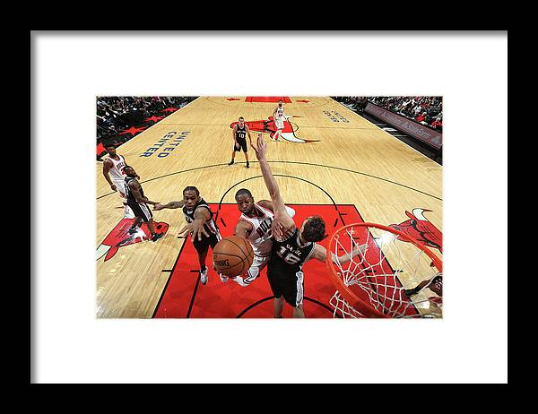Nba Pro Basketball Framed Print featuring the photograph Dwyane Wade and Pau Gasol by Nathaniel S. Butler