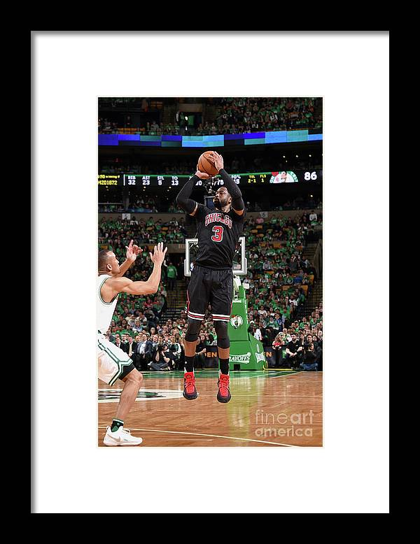 Playoffs Framed Print featuring the photograph Dwyane Wade by Brian Babineau