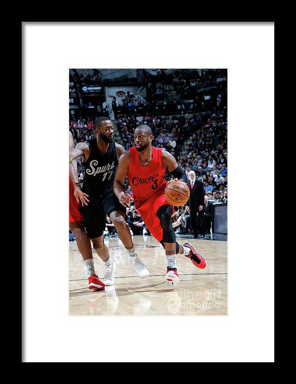 Nba Pro Basketball Framed Print featuring the photograph Dwyane Wade by Chris Covatta