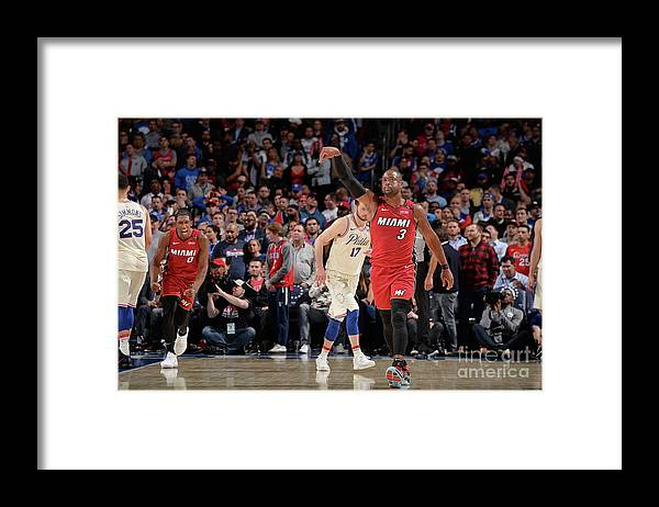 Playoffs Framed Print featuring the photograph Dwyane Wade by David Dow