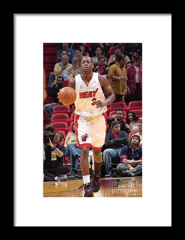 Nba Pro Basketball Framed Print featuring the photograph Dwyane Wade by Fernando Medina