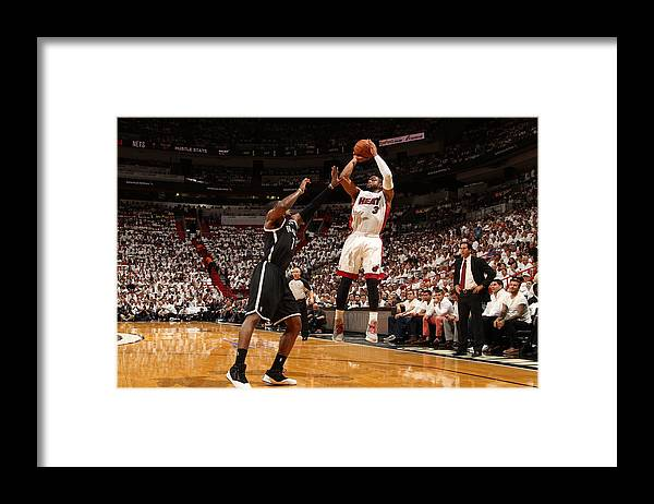 Playoffs Framed Print featuring the photograph Dwyane Wade by Issac Baldizon