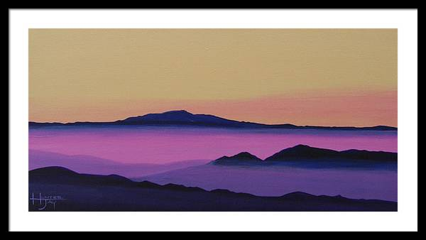 Mountains Framed Print featuring the painting Early Morning by Hunter Jay