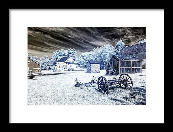 East Jersey Olde Towne Village Landscape Infrared by John Rizzuto
