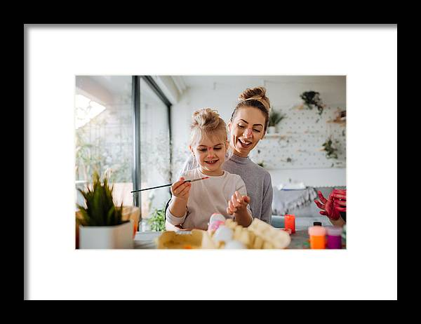 4-5 Years Framed Print featuring the photograph Easter preparation in our home by AleksandarNakic