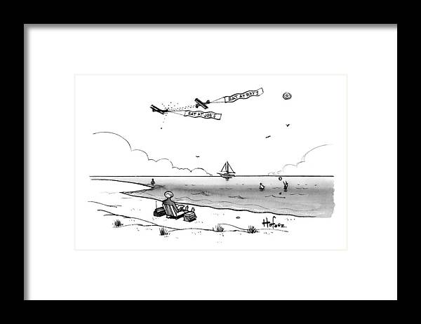 Caoptionless Framed Print featuring the drawing Eat At Ray's by Kaamran Hafeez