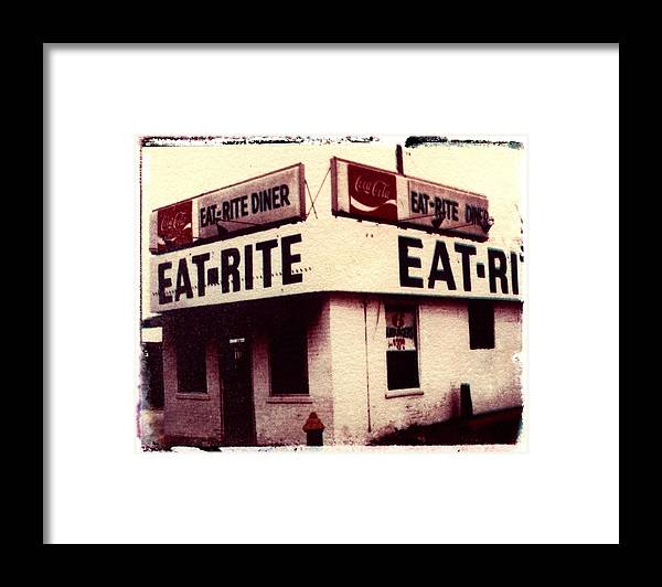 Polaroid Transfer Framed Print featuring the photograph Eat Rite by Jane Linders