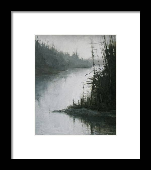 Framed Print featuring the painting Echoes by Mary Jo Van Dell