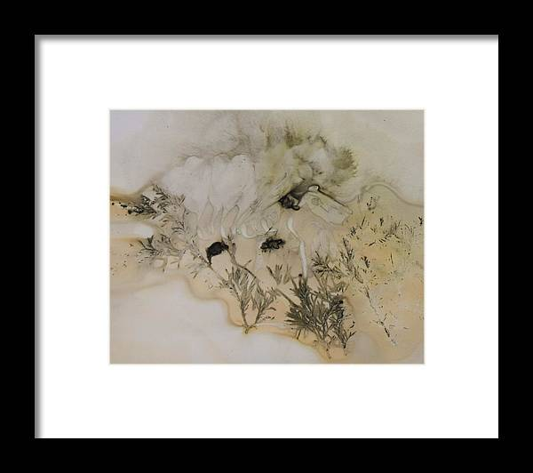 Nature Framed Print featuring the mixed media Eco print 5 by Charla Van Vlack