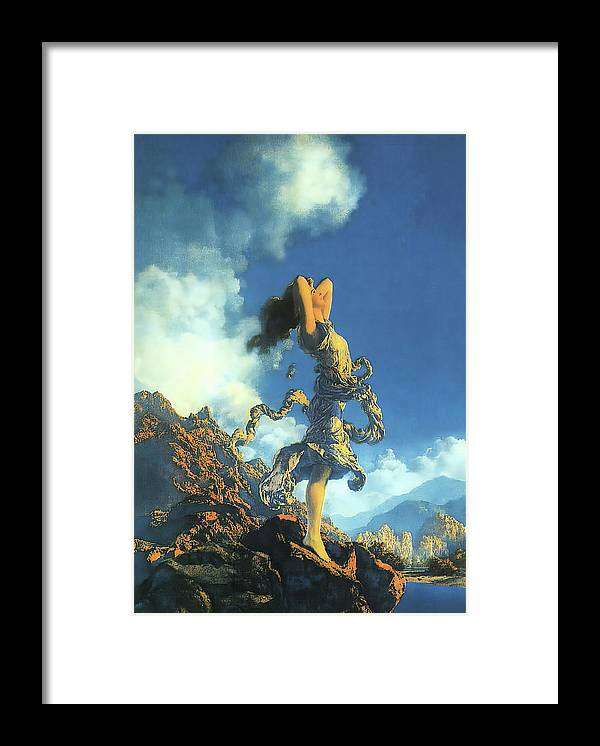 Maxfield Parrish Framed Print featuring the photograph Ecstasy by Maxfield Parrish
