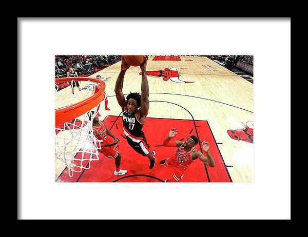 Nba Pro Basketball Framed Print featuring the photograph Ed Davis by Gary Dineen