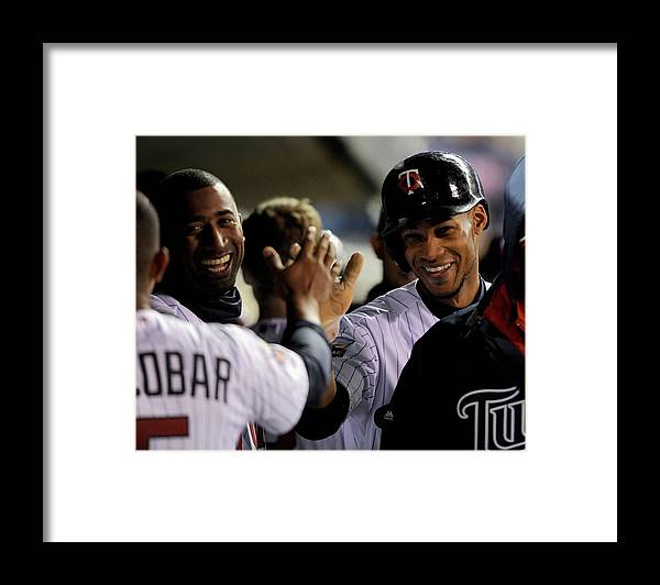 Game Two Framed Print featuring the photograph Eduardo Nunez by Brian Blanco