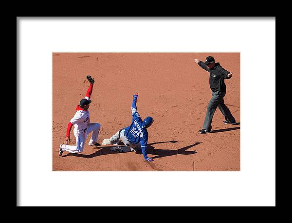 People Framed Print featuring the photograph Edwin Encarnacion by Michael Ivins/boston Red Sox
