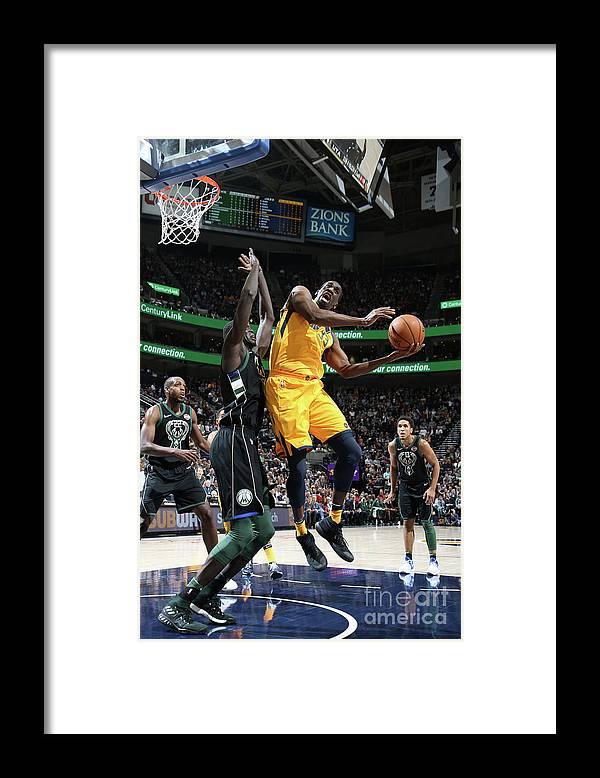Nba Pro Basketball Framed Print featuring the photograph Ekpe Udoh by Melissa Majchrzak