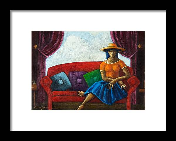 Puerto Rico Framed Print featuring the painting El Ultimo Romance Del Verano by Oscar Ortiz
