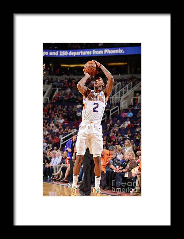 Sports Ball Framed Print featuring the photograph Elfrid Payton by Barry Gossage