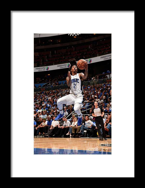Nba Pro Basketball Framed Print featuring the photograph Elfrid Payton by Gary Bassing
