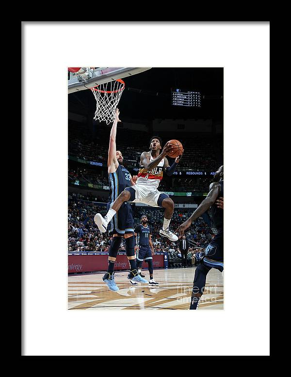 Smoothie King Center Framed Print featuring the photograph Elfrid Payton by Layne Murdoch Jr.