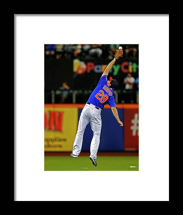 Ball Framed Print featuring the photograph Elvis Andrus and Daniel Murphy by Rich Schultz