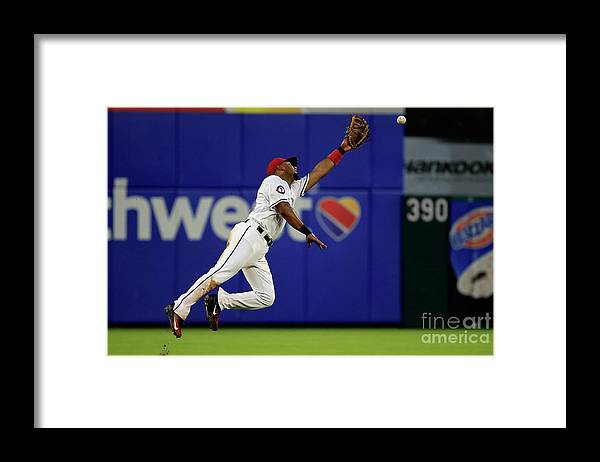 People Framed Print featuring the photograph Elvis Andrus and Manny Machado by Ron Jenkins