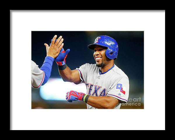Ninth Inning Framed Print featuring the photograph Elvis Andrus by Jim Mcisaac