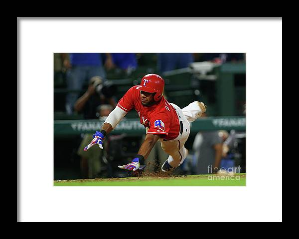 Ninth Inning Framed Print featuring the photograph Elvis Andrus by Rick Yeatts