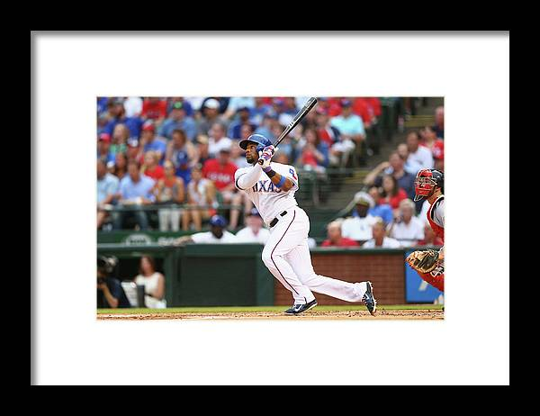People Framed Print featuring the photograph Elvis Andrus by Ronald Martinez