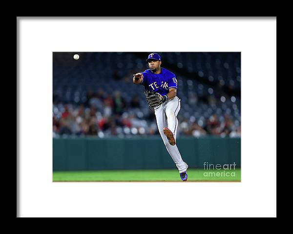 People Framed Print featuring the photograph Elvis Andrus by Sean M. Haffey