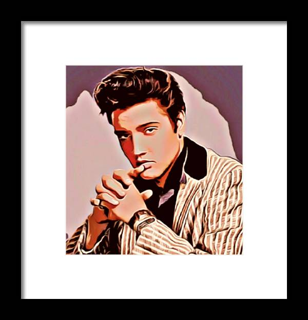 Elvis Framed Print featuring the mixed media Elvis by Bellino