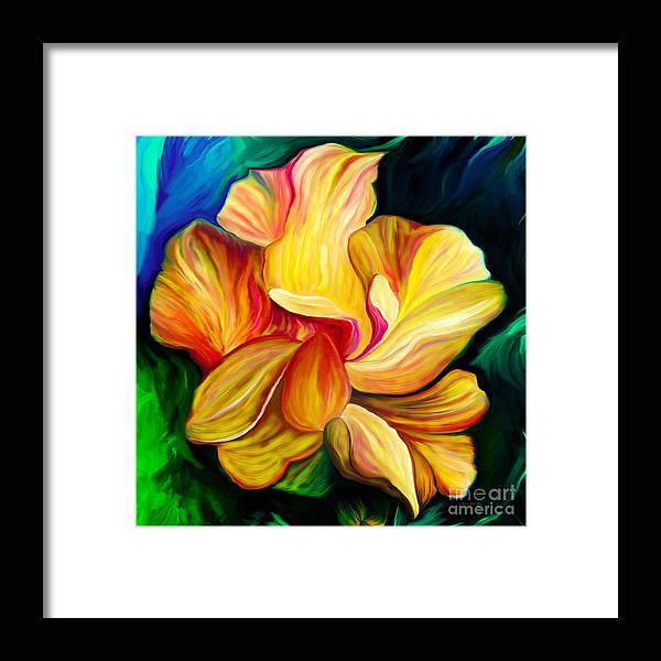 Hibiscus Painting Framed Print featuring the painting Emergence II by Patricia Griffin Brett
