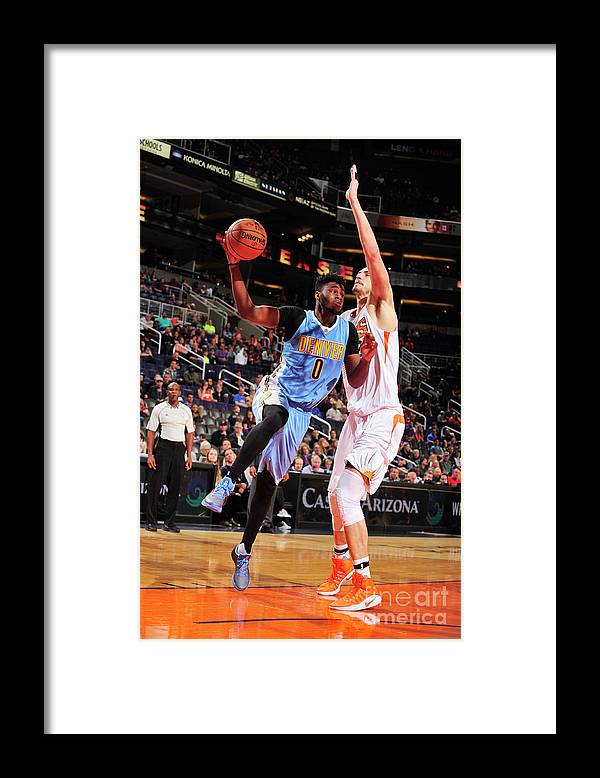 Nba Pro Basketball Framed Print featuring the photograph Emmanuel Mudiay by Barry Gossage