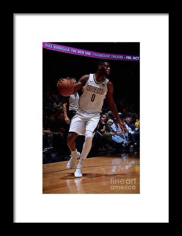 Nba Pro Basketball Framed Print featuring the photograph Emmanuel Mudiay by Bart Young
