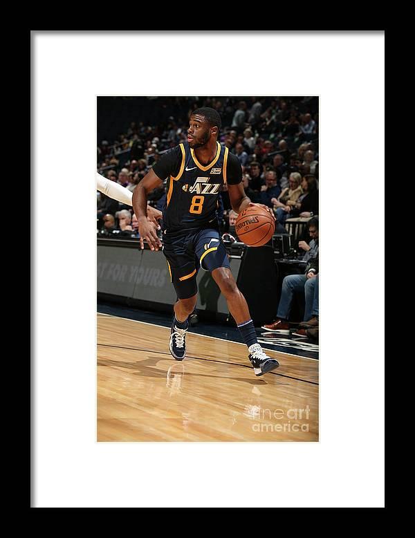 Nba Pro Basketball Framed Print featuring the photograph Emmanuel Mudiay by David Sherman