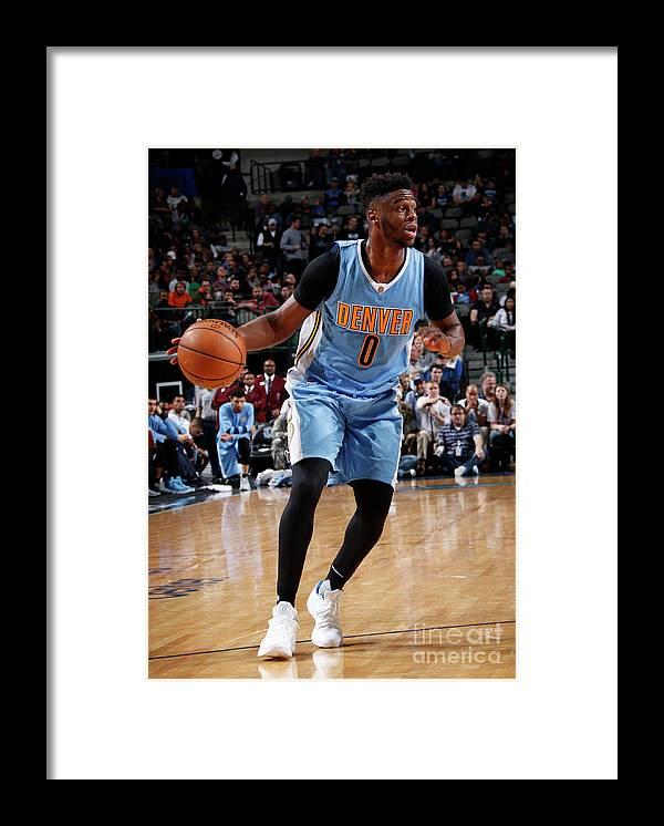 Nba Pro Basketball Framed Print featuring the photograph Emmanuel Mudiay by Glenn James
