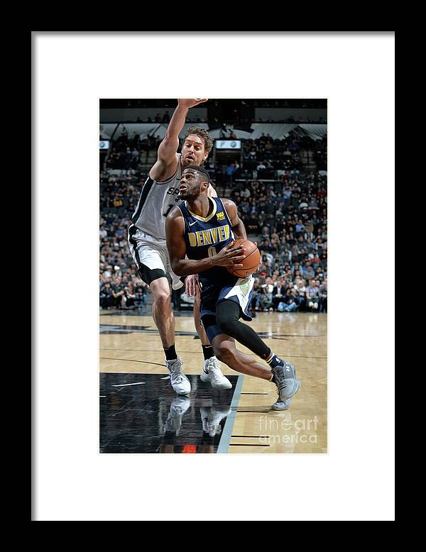 Nba Pro Basketball Framed Print featuring the photograph Emmanuel Mudiay by Mark Sobhani