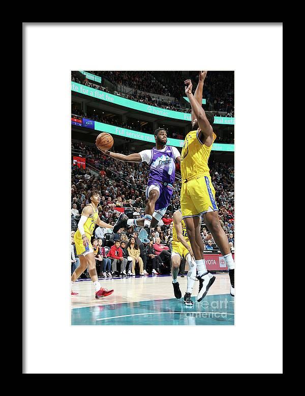 Nba Pro Basketball Framed Print featuring the photograph Emmanuel Mudiay by Melissa Majchrzak