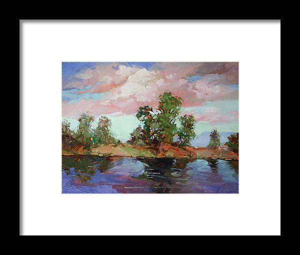 Plein Air Paintings Framed Print featuring the painting End of the Cottonwoods by Betty Jean Billups