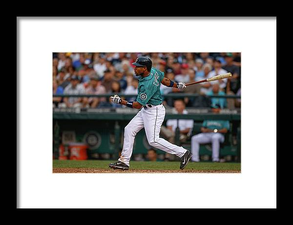 American League Baseball Framed Print featuring the photograph Endy Chavez by Otto Greule Jr