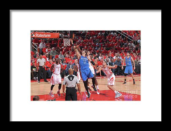 Playoffs Framed Print featuring the photograph Enes Kanter by Bill Baptist