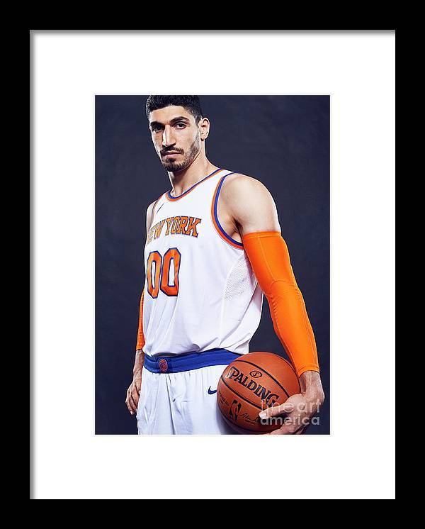 Media Day Framed Print featuring the photograph Enes Kanter by Jennifer Pottheiser