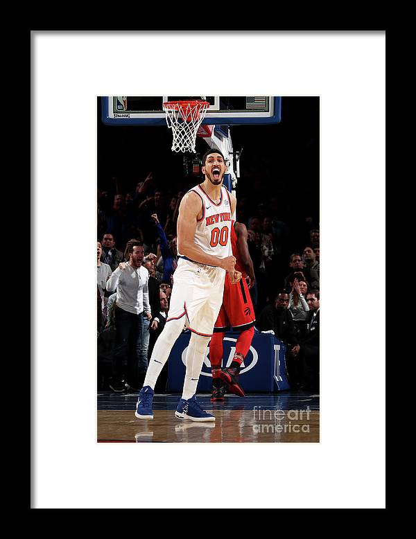 Nba Pro Basketball Framed Print featuring the photograph Enes Kanter by Nathaniel S. Butler