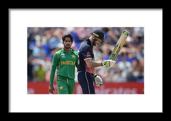 Three Quarter Length Framed Print featuring the photograph England v Pakistan - ICC Champions Trophy by Philip Brown