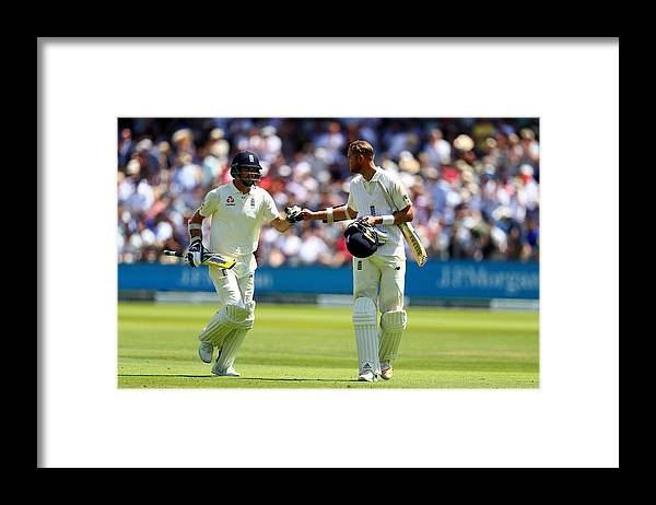 International Match Framed Print featuring the photograph England v South Africa - 1st Investec Test: Day Two by Clive Rose