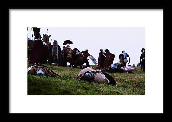 Event Framed Print featuring the photograph Enthusiasts Re-enact Roman Times At Hadrian's Wall by Ian Forsyth